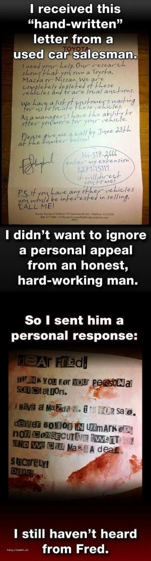 Personal Solicitation