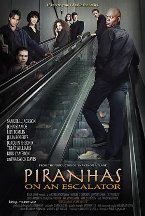 Piranhas on an escalator