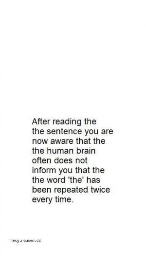 nedokonaly mozek