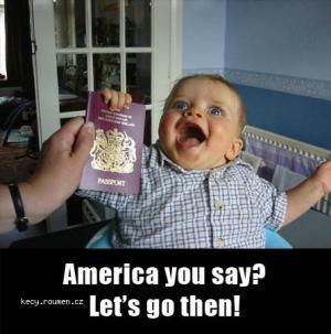Passport baby America