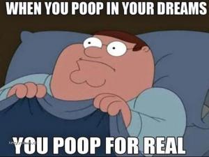 When you poop