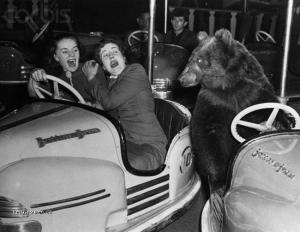 Z historie Medved v lunaparku