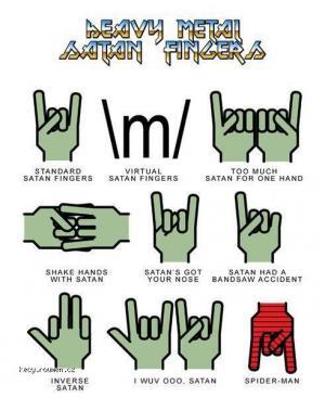 heavy metal fingers