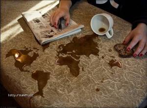 Erik Johannson Coffee spill