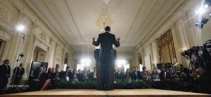 Prezident Obama pocas tlacovej konferencie v Bielom Dome