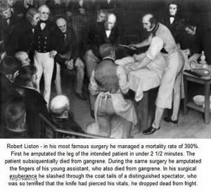 Picture of the day  Robert Liston the worst surgeon of all time
