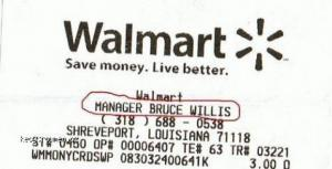 Manager Bruce Willis