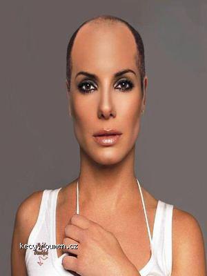 bald Sandra Bullock