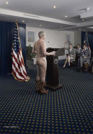 prezident je nahy