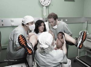 pruser na porodnim sale