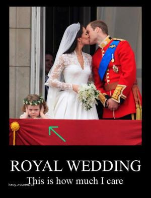 Royal wedding  this is how much I care