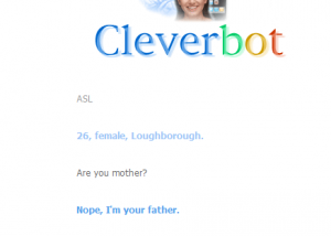 cleverbotiamyourfather