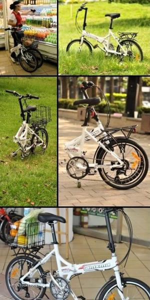 Bicycle transforms into a shopping cart