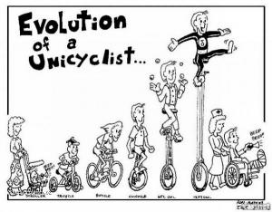 Evolution From A Different Angle  unicyclist