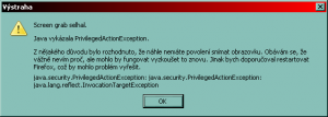 Firefox vystraha