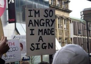 Angry made sign