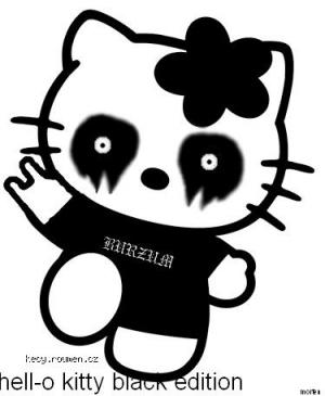 Black Metal HellO kitty