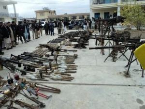 Confiscated Weapons from Taliban Fighters1