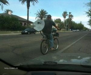 TV On The Move  E2 80 93 Cycling With A Satellite Dish