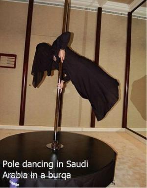Pole dancing in Saudi Arabia