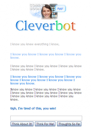 cleverbot i know you win