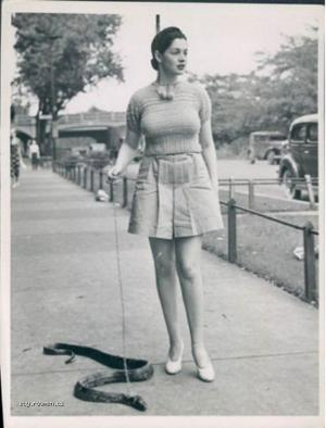Taking The Pet Snake For A Walk