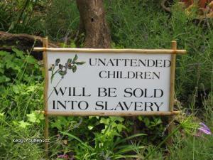 warning children