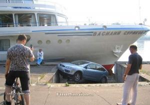 car meets boat 1
