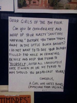 Dear girls of the 8th floor