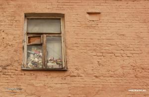 chlivek v okne