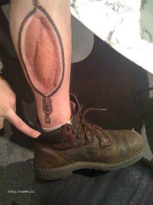 zip tattoo scar