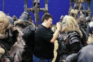 On the set of Lord of the Rings 4