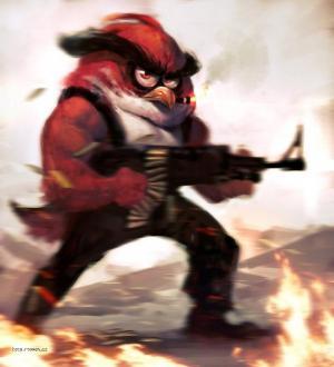 Angry Bird Rambo