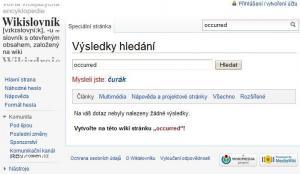 wikislovnik occured