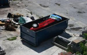 Odpadkovy kontajner na auta