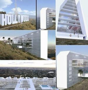 Hollywood Sign Hotel Concept