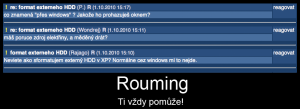Rouming vzdy pomaha