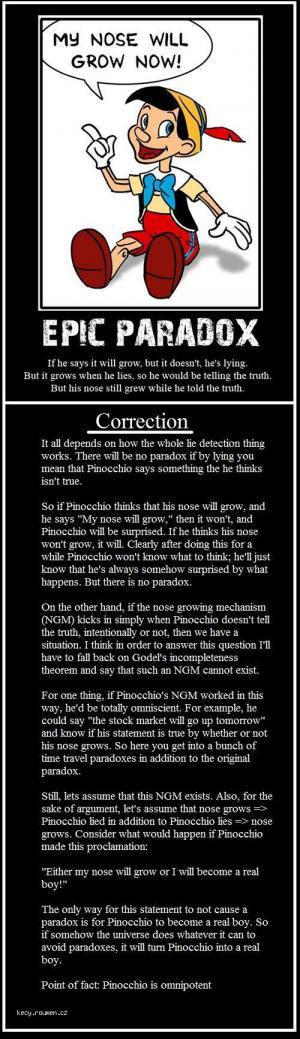 pinoccio paradox