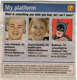 Batman Has A Wish