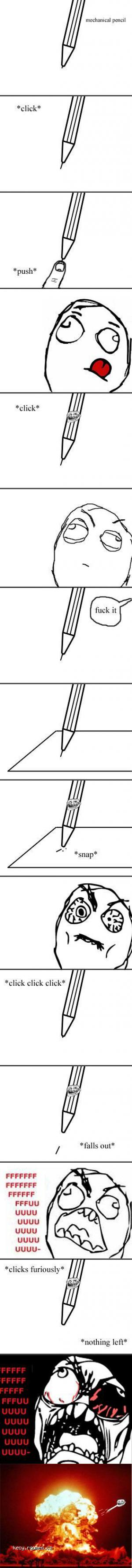 Mechanical pencil rage