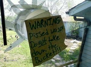 Warning Pissed Wasp