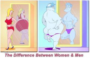 men vs women mirror