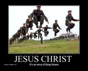 army of flying asians