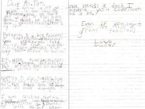 dopis ucitelce
