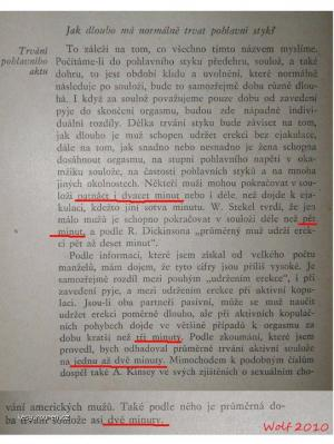 Delka pohlavniho styku  Kniha o manzelstvi  1935