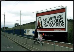 santa billboard
