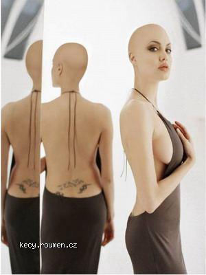 bald Angelina Jolie