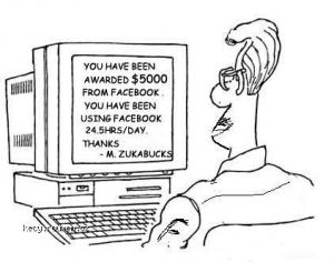 Get paid for facebooking