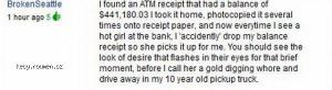 ATM Receipt Trick