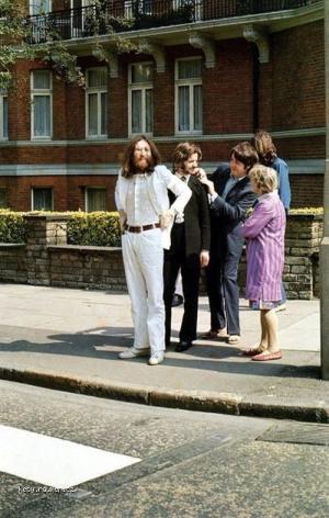 Beatles pred fotenim na album